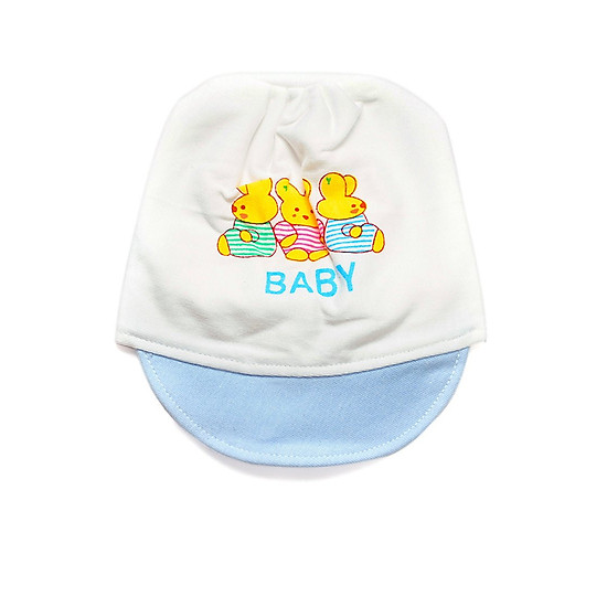 Mũ bo sơ sinh cho bétừ 03 đến 12 tháng - Set 02 cái (Giao màu ngẫu nhiên)
