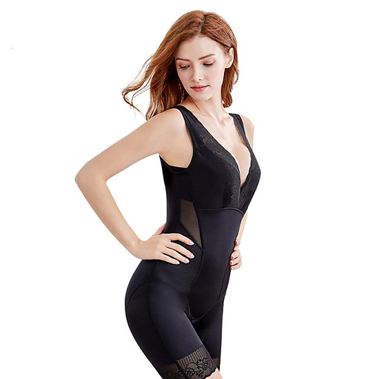 Sissi Princess SISSI Guardian Angel Seamless Body Sculpting Slim Comfortable Tummy Hips Slimming Body Coat Black L