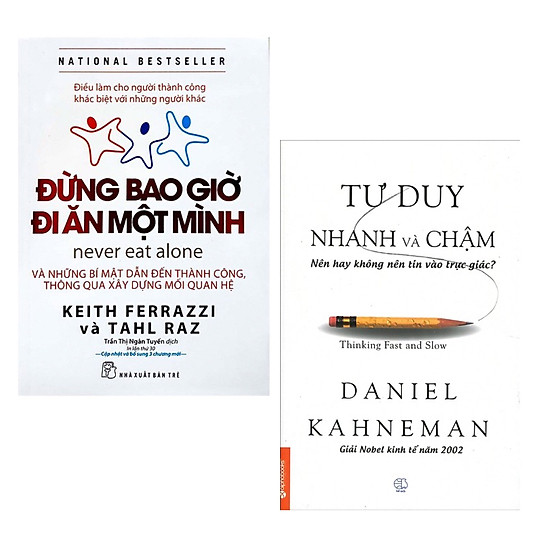Combo 2 Cuốn Sách Giúp Bạn Thành Công: Đừng Bao Giờ Đi Ăn Một Mình (Tái Bản) + Tư Duy Nhanh Và Chậm (Tái Bản 2019) / Bài Học Kinh Doanh (Tặng Kèm Bookmark Happy Life)