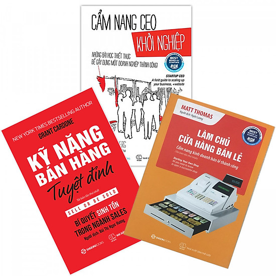 Combo 3 cuốn: Cẩm nang CEO khởi nghiệp + Làm chủ cửa hàng bán lẻ + Kỹ Năng Bán Hàng Tuyệt Đỉnh