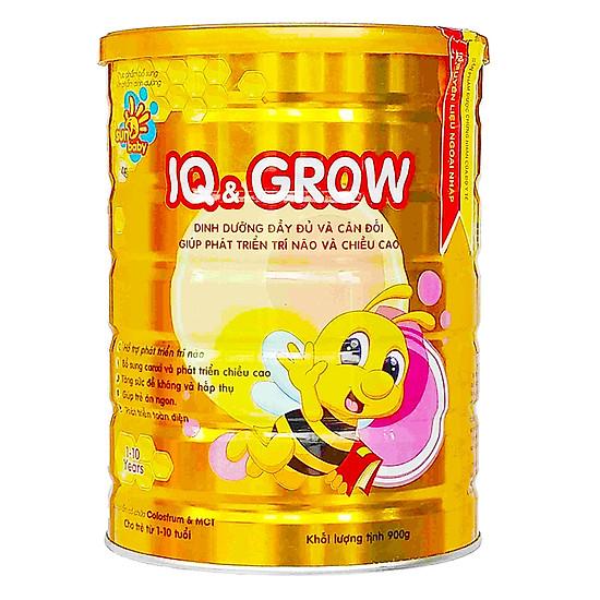 Sữa bột dinh dưỡng IQ GROW phát triển chiều cao, trí não vượt trội cho trẻ (900g) Sunbaby