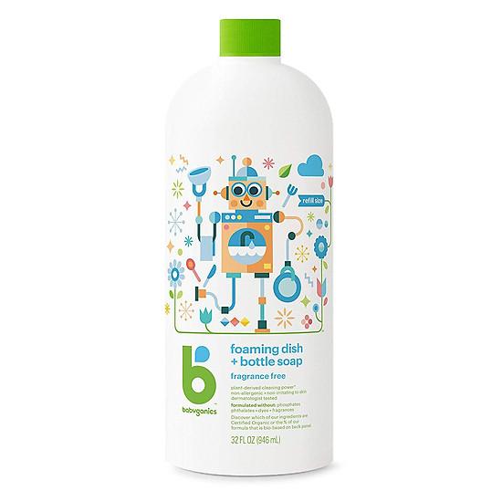 Nước rửa bình sữa Babyganics refill 946ml