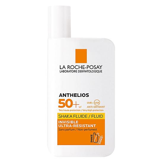 Bộ kem chống nắng cho mặt dạng sữa lỏng nhẹ không nhờn rít La Roche Posay Anthelios Shaka Fluid SPF 50+ 50ml
