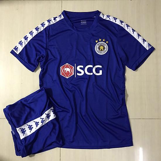 áo đá bóng câu lạc bộ Hà Nội màu xanh dương