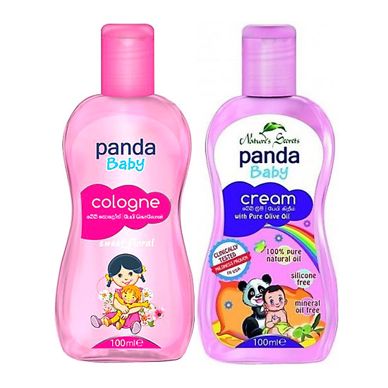 Bộ kem dưỡng da và nước hoa cho bé (Panda Baby Cream and Cologne)