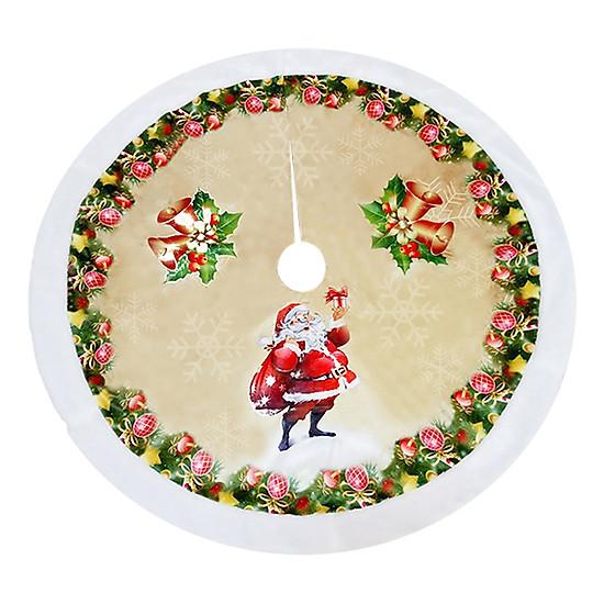 Hình đại diện sản phẩm Christmas Tree Dress Christmas Tree Skirt Beautiful Printing Flannelette Round Skirt Market (3, the bell elderly)