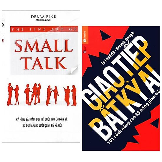 Combo sách giao tiếp cho bất kỳ ai : Small talk - Kỹ năng bắt đầu , duy trì cuộc trò chuyện và tạo dựng mạng lưới quan hệ xã hội + Giao tiếp bất kỳ ai - Tặng kèm Postcard GREEN LIFE