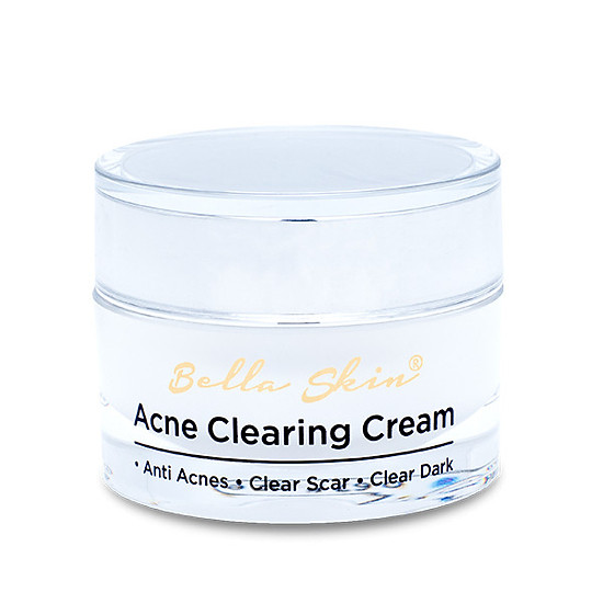 Kết quả hình ảnh cho Kem trị mụn Bella Skin Acne Clearing Cream