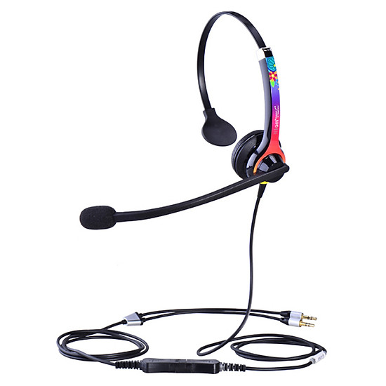 HION DH100 telephone headset call center customer service headset noise reduction headset computer double plug - SMZDMA