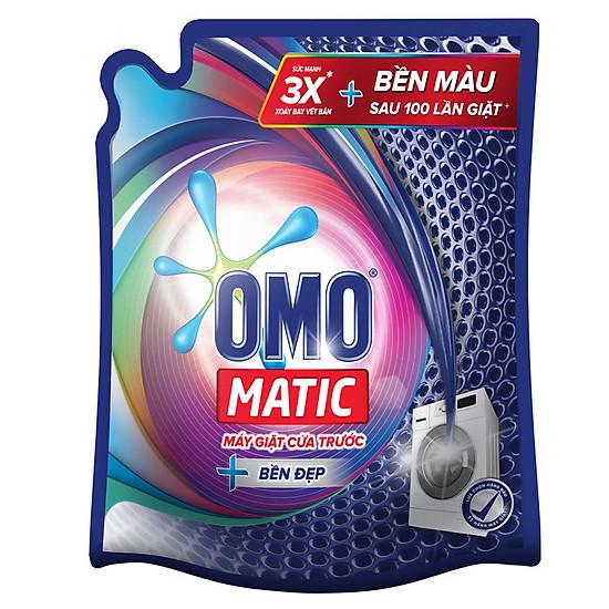 Nước giặt OMO Matic bền màu cho máy giặt cửa trước túi 2.7kg