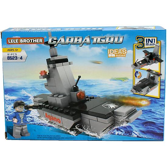 Đồ chơi lắp ghép Tàu tuần dương 3 in 1 Lele Brother (8523-4)