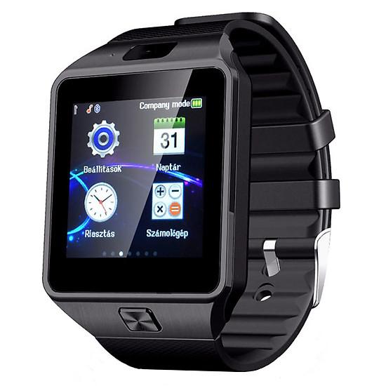 Đồng hồ thông minh Smartwatch DZ09 (Đen phối bạc)