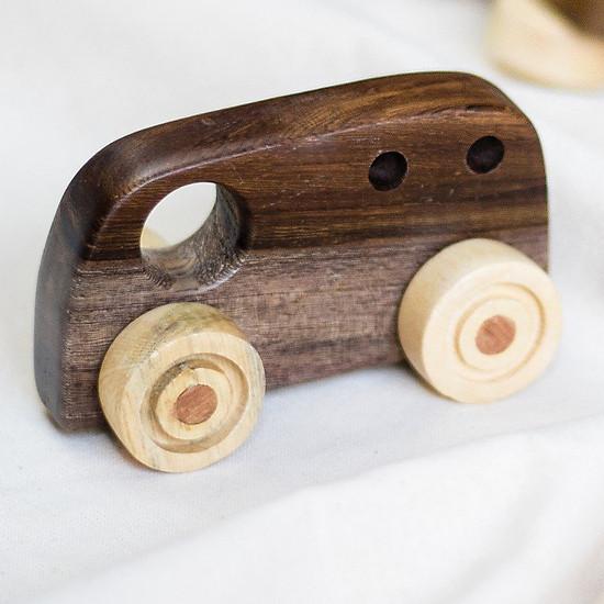 Mô hình xe ô tô, xe bus gỗ cho bé