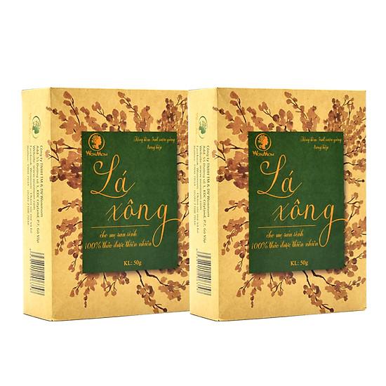 Combo 2 hộp lá xông tắm sau sinh Wonmom (50g x 2 hộp)