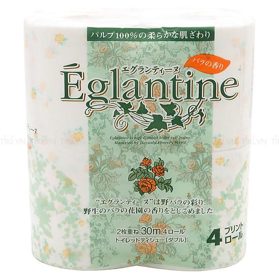 Giấy Vệ Sinh Eglantine (4 Cuộn) – Giao màu ngẫu nhiên