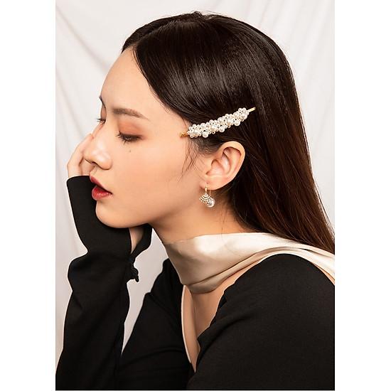 Set 2 kẹp tóc ngọc trai Hàn Quốc