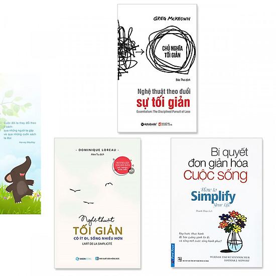 Hình đại diện sản phẩm Combo 3 cuốn sách về lối sống tối giản: Bí Quyết Đơn Giản Hóa Cuộc Sống + Nghệ Thuật Tối Giản: Có Ít Đi, Sống Nhiều Hơn + Nghệ Thuật Theo Đuổi Sự Tối Giản (Kèm bookmark danh ngôn hình voi)