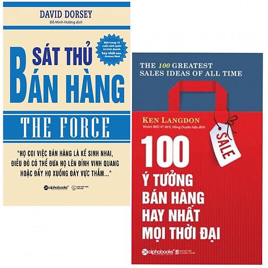 Combo Sát Thủ Bán Hàng + 100 Ý Tưởng Bán Hàng Hay Nhất Mọi Thời Đại (tặng kèm 2 bọc sách plastic cao cấp)