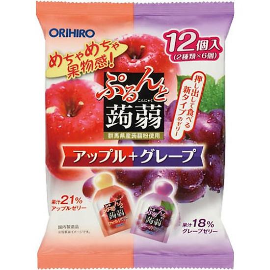 Combo 6 gói Thạch trái cây Orihiro vị Nho tím & Táo đỏ 240gr | Tiki.vn