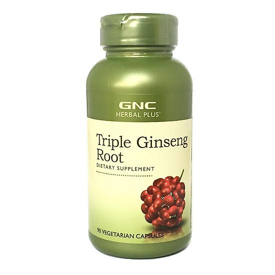Hình đại diện sản phẩm Thực Phẩm Chức Năng Hỗ trợ tăng cường khả năng hồi phục sức khỏe cho người lớn tuổi GNC Triple Ginseng Root chai 90 viên