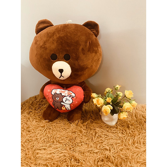 Gấu browm ôm tim 50cm