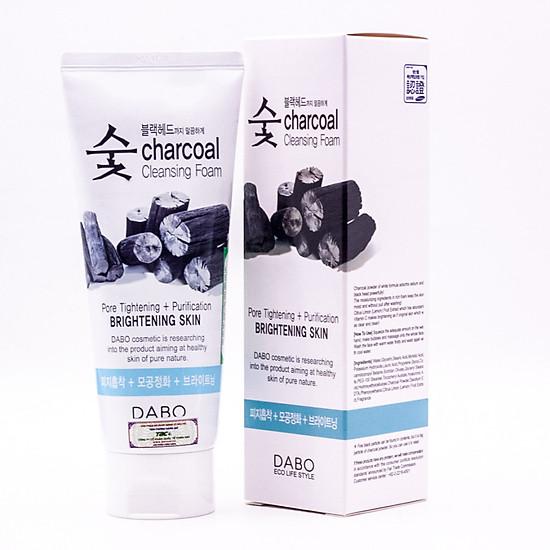 Sữa rửa mặt than hoạt tính DABO Charcoal Cleansing Foam dung tích 150ml