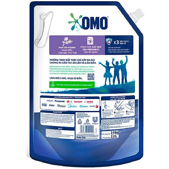 Túi nước giặt Omo matic cửa trước khử mùi thư thái 2.9kg-1
