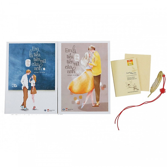 Combo 2 tập Em là tiểu tiên nữ của anh tặng kèm bộ bookmark kim loại số lượng có hạn