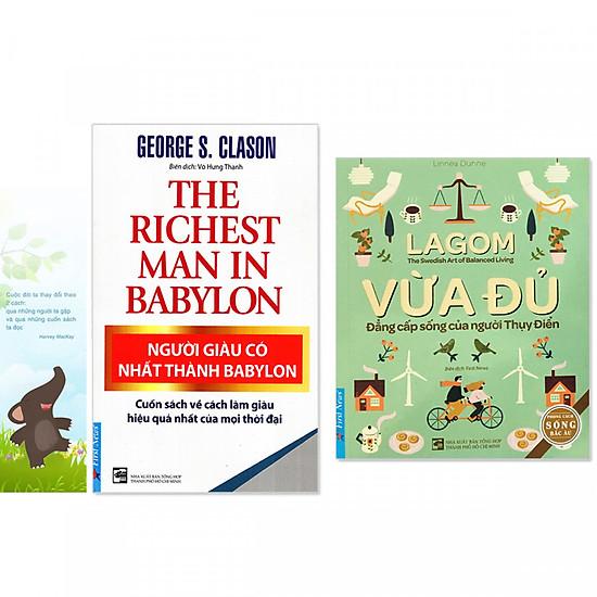 Combo 2 quyển: Người Giàu Có Nhất Thành Babylon + Lagom - Vừa Đủ - Đẳng Cấp Sống Của Người Thụy Điển (Tặng kèm bookmark danh ngôn hình voi)