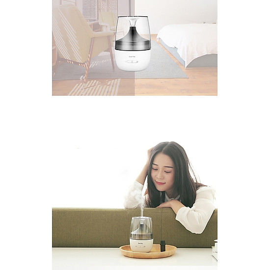 Xiaomi Ecological Chain Ultrasonic Aromatherapy Humidifier With Colorful Night Light Two Spray Modes Mini Air Humidifier Household Nano Spray Mute Humidifying Aroma Diffuser For Office Car Use - White-9