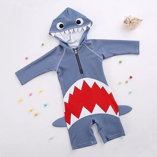 Bộ bơi liền cộc hình cá mập cho bé từ 2 đến 7 tuổi
