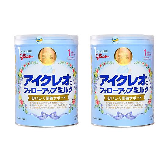 Combo 2 hộp Sữa Glico Icreo Follow Up Milk Số 1 (820g) và đồ chơi tắm Toys House