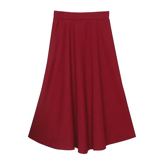 Hình đại diện sản phẩm Chân Váy Xòe Dáng Dài - Đỏ
