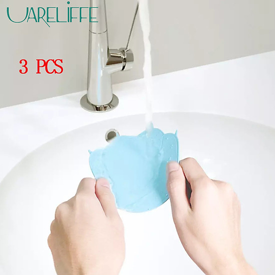 Uareliffe 3Pcs Cat Paw Cup Pad Cute Silicone Coaster Coffee Cup Mat Mug Table Pad Non-slip Heat Insulation Cup Pads Dirt-resistant Tableware Placemat Kitchen Accessories - Blue-4