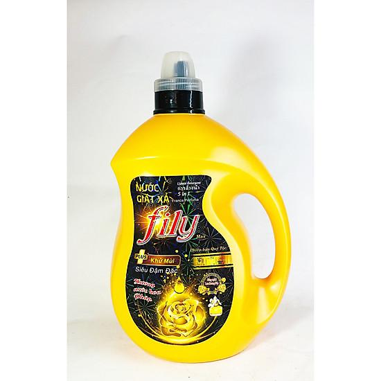 Nước giặt xả Hương Nước Hoa Pháp Lưu hương 24h – FILY vàng 3,5 lít
