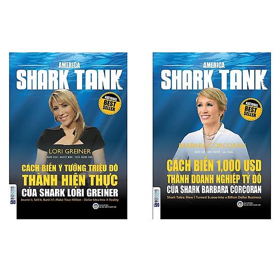 Combo Cẩm Nang Làm Gìau: Cách Biến Ý Tưởng Triệu Đô Thành Hiện Thực Của Shark Lori Greiner + Cách Biến 1.000 USD Thành Doanh Nghiệp Tỷ Đô Của Shark Barbara Corcoran  - Sách Kinh Tế Hay Cho Bạn Đam Mê Làm Gìau