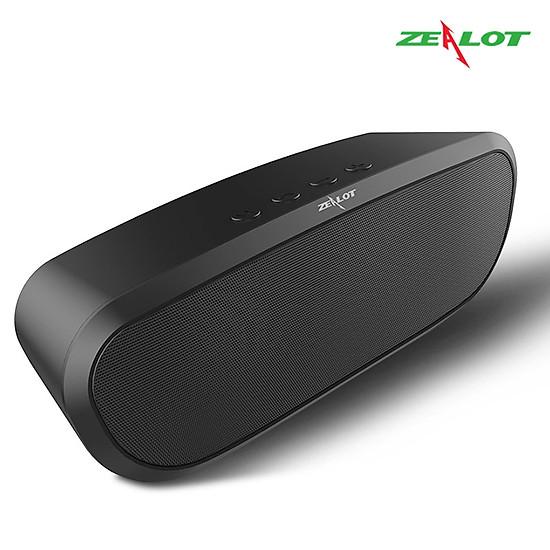 Loa bluetooth Zealot ngoài trời âm thanh siêu trầm S9 hàng chính hãng tương thích điện thoại di động máy tính laptop - Đen-0