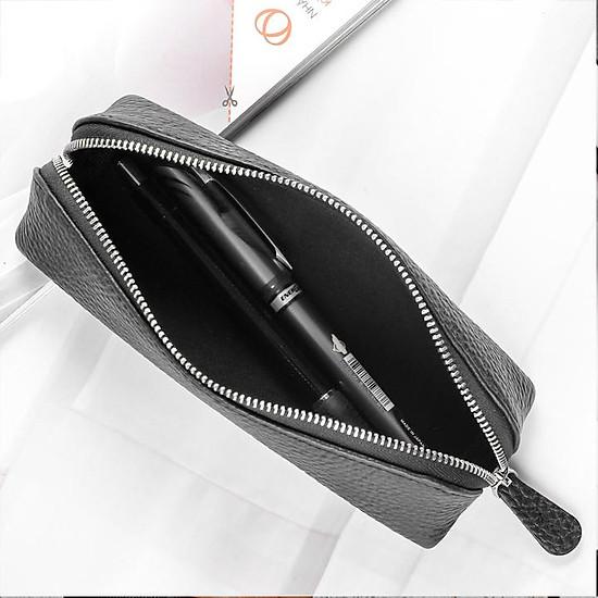 Túi đựng bút da thật ZN 01 (Đen - Nâu sáp - Vàng bò)