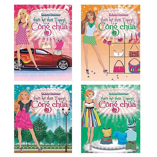 Sách – Dán hình trang phục công chúa combo bộ 4 tập