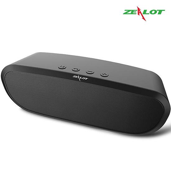 Loa bluetooth Zealot ngoài trời âm thanh siêu trầm S9 hàng chính hãng tương thích điện thoại di động máy tính laptop - Đen-9