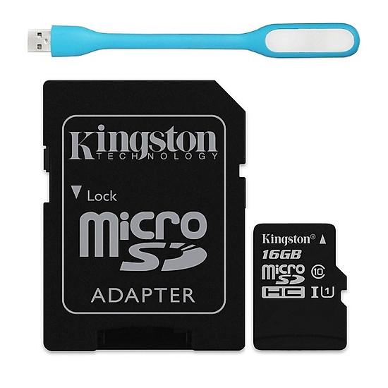 Kết quả hình ảnh cho Thẻ Nhớ Micro SDHC Kingston 16GB Class 10 UHS-I SDC10G2/16GBFR tiki