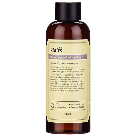Kết quả hình ảnh cho Nước hoa hồng chống viêm, dưỡng ẩm Klairs Supple Preparation Facial Toner 180ml tiki