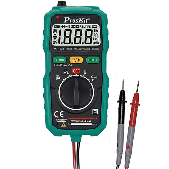 Pro'skit MT-1508 Pocket Automatic Meter Voltage Meter Current Meter