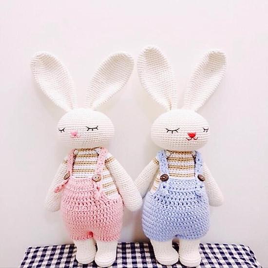 Thú Len Móc Tay – Cặp Đôi Thỏ