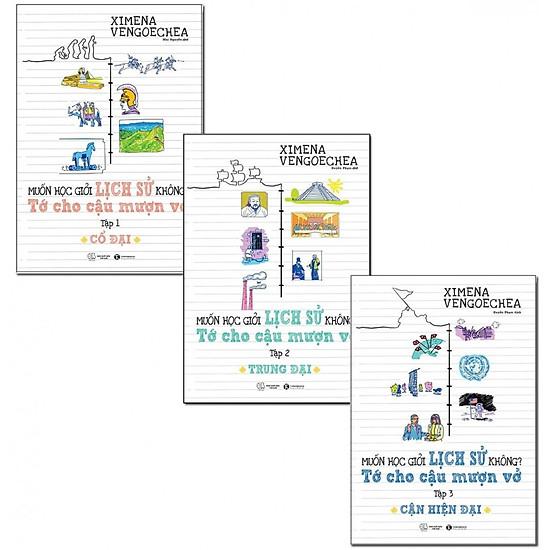 Hình đại diện sản phẩm Combo sách Muốn Học Giỏi Lịch Sử Không? Tớ Cho Cậu Mượn Vở ( Cổ Đại, Trung Đại, Cận Hiện Đại)