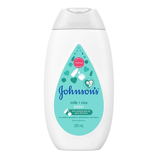 Sữa dưỡng ẩm Johnson's Baby sữa và gạo (200ml)