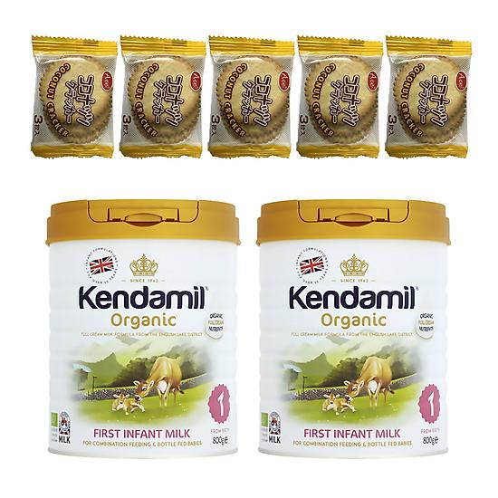 Combo 2 hộp Sữa Nguyên kem công thức hữu cơ KENDAMIL ORGANNIC số 1: ORGANIC FIRST INFANT