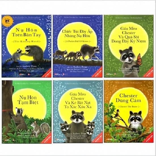 Combo 6 Cuốn Picture Book Song Ngữ 3-8 Tuổi - Gấu Mèo Chester