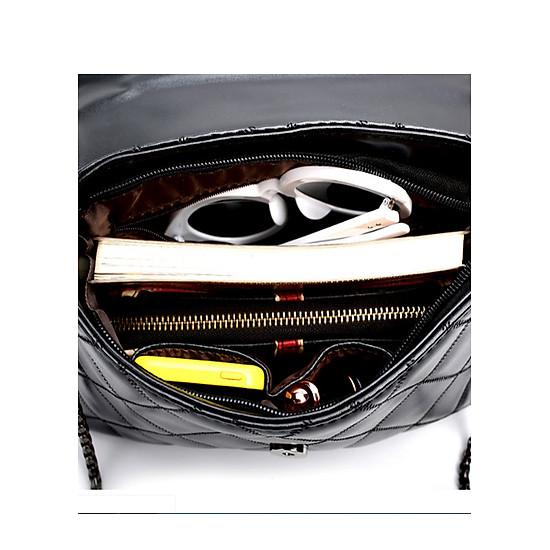 Túi đeo vai nữ thời trang hình quả trám DV388 đen