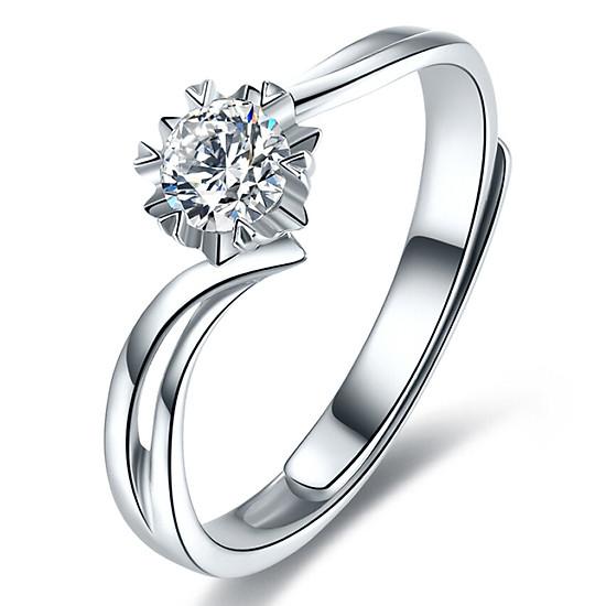 Hình đại diện sản phẩm Ming Diamond International Snowflake Diamond Ring / Diamond Ring / Wedding Ring / Couple Pair Ring Female Adjustable
